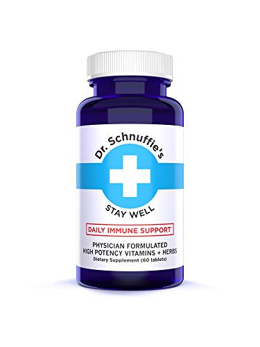 Dr. Schnuffie's Cold + Flu - Immune Support Boost - High-Potency Multi-Vitamins and Natural Herbal Extract Blend - Stay Well
