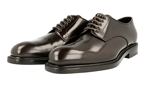 Prada Men's 2EA072 055 F0192 Brown Leather Business Shoes EU 10 (44)/US 11 by Prada (Image #1)