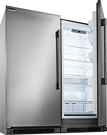 Frigidaire Professional Series Built-In All Refrigerator, All Freezer Combo with Easy Care Stainless (FPFU19F8RF_FPRU19F8RF)