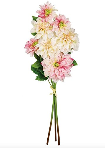 Artificial Blush Pink Dahlia Flower Bundle - 27