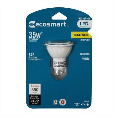 Ecosmart 50W Equivalent 3000K MR16 GU10 LED Flood Light Bulb (E)*, Bright White