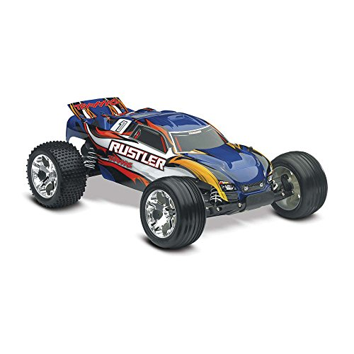 (Traxxas Rustler RTR with XL-5 ESC Vehicle, Blue)
