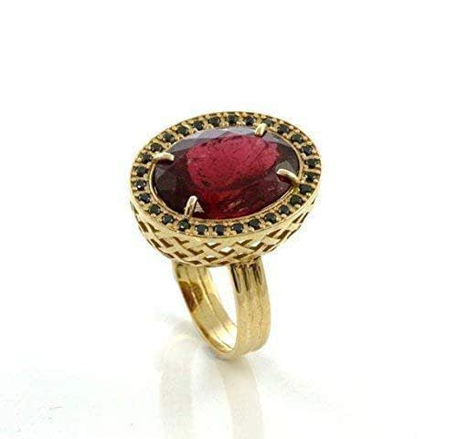 Amazon.com: One of a kind tourmaline ring 8.5ct 18K gold