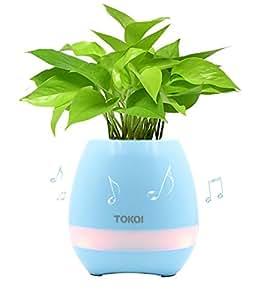 Upstone florero de música altavoz inalámbrico Smart Touch Planta Play Piano Música con luz nocturna