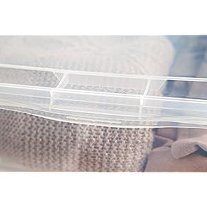 IRIS 6 Quart Clear Storage Box, 18 Pack