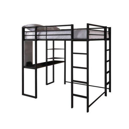 Abode Full Metal Loft Bed over Workstation Desk,Black by Dorel (Image #1)