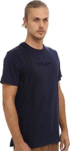 Marc Ecko Cut & Sew Men's Crackalack Crew Navy T-Shirt 2XL