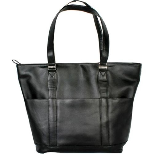 (Winn Harness Leather Ladies' Tote, Black )