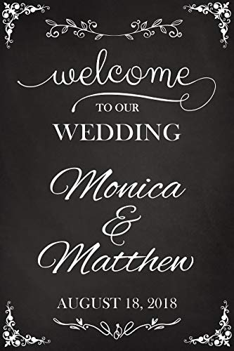 Welcome to Our Wedding, Custom Wedding Sign, Size 36x24, Wedding Welcome Sign, Chalkboard Sign, Wedding Party Signs, Handmade Party Supply Poster Print, Custom banner and -