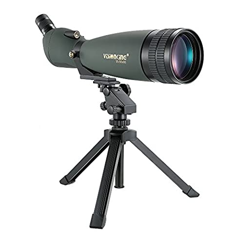 Docooler Visionking 30-90X90 Angled Waterproof Spotting Scope Outdoor Hiking Bird Watching Portable HD Monocular Telescope with (90x Spotting Scope)