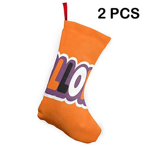 Ladninag Christmas Stockings Halloween Organe Fantastic Christmas Decor Socks 2 pcs -