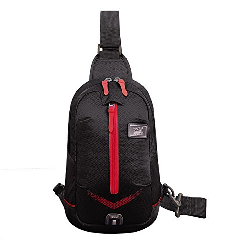 CATOP Crossbody Chest Bag Lightweight Water Resistant Sling Bag for Men and Women Black