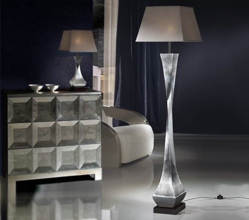 SCHULLER | Lámparas PIE de Salón: Colección DECO pan de plata ...