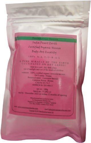 Tinte orgánico de henna BAQ, 100 g