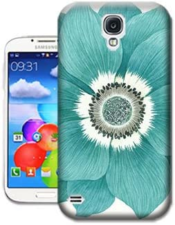 Light Blue Flower Wallpaper Phone Case For Samsung Galaxy S4 Design By Bradley S Shop Amazon Co Uk Electronics