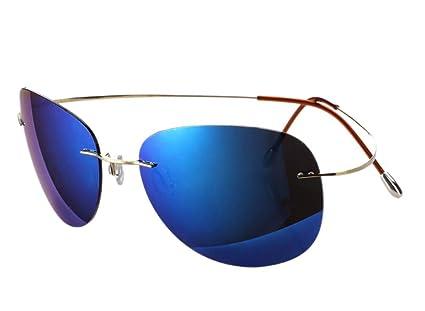 WJYTYJ Espejo De Pesca De Titanio Puro Aumento Claro Gafas De Sol Polarizadas Gafas De Sol