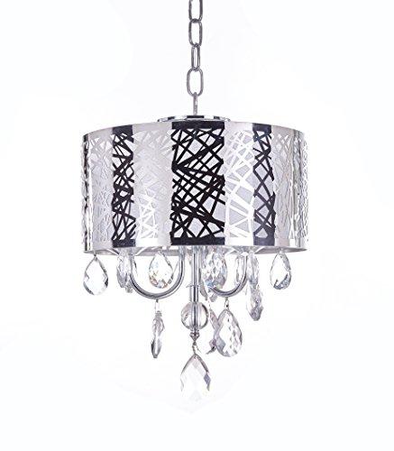 - MonaLisa Gallery Crystal Chandeliers Semi Flush Mount Ceilling Light Fixture, MG-143/D-3L W12xH16 Silver