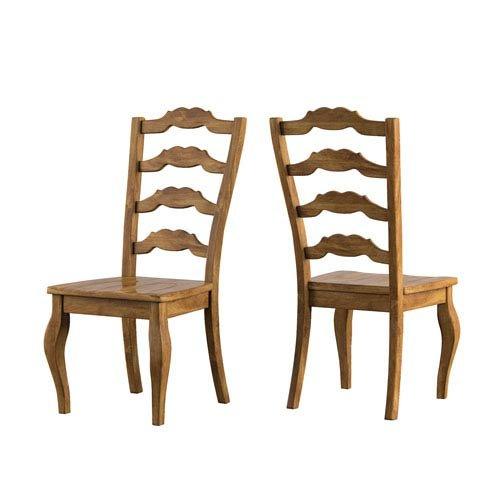 (HomeHills Adalee French Ladder Back Side Chair, Set of 2)