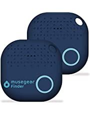 musegear Key Finder met Bluetooth App uit Duitsland I Maximaal gegevensbescherming I donkerblauwe 2-pack I Find toetsen