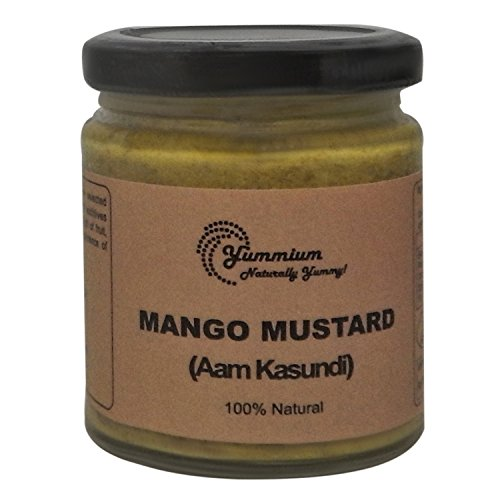 (Yummium Mango Mustard Dip, Aam Kasundi, Homemade Traditional Bengali Mustard Sauce, Bengali Recipe, 100% Natural, Free from Artificial Preservatives Color and Flavors - 190 grams)