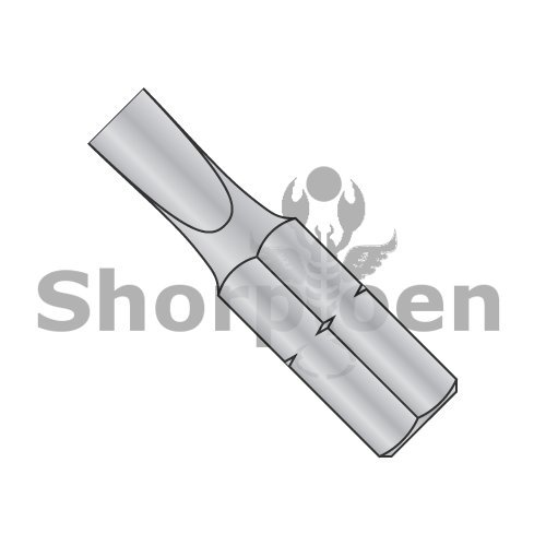 Slotted Insert Bit 12-14 x 1 x 1/4 (Box of 100) weight1.5Lbs ()