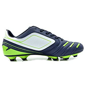Dream Pairs 151028 Men's Sport Flexible Athletic Free Running Light Weight Indoor/Outdoor Lace Up Soccer Shoes NAVY-WHT-N.GREEN SIZE 8