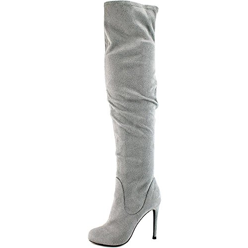 Charles by Charles David Womens Lyssa Over the Knee Boot Stone Grey LQyNLP