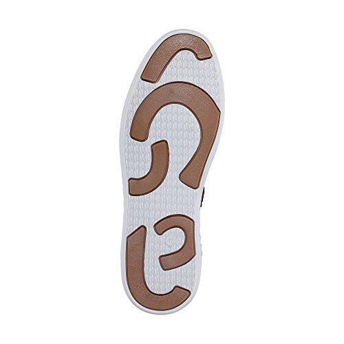 Cox Freizeit-Schnürer, Braune Leder Schuhe IM Derby-Stil mit Stylischer Applikation braun-mittel