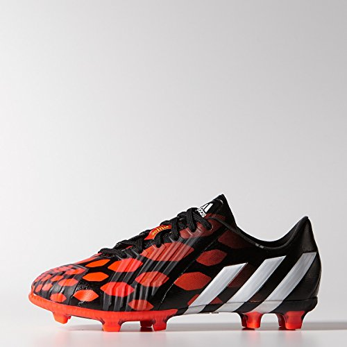 Adidas Predator Instinct Junior Firm Ground Cleats [CBLACK/CWHITE/SOLRED] (2.5)