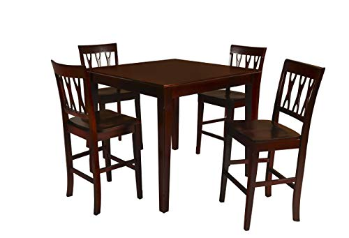 New Classic 04-0640-012 Abbie Counter Height Table, Bordeaux ()