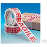 6 Rolls Low Noise Fragile Tape 48mm x 66m packing sealing