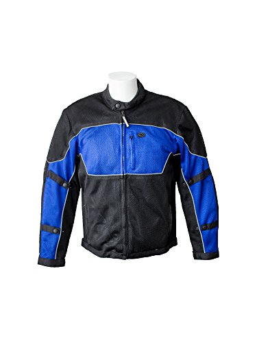 RoadDog Hurricane Mesh Motorcycle Riding Jacket Blue Men's X-Large