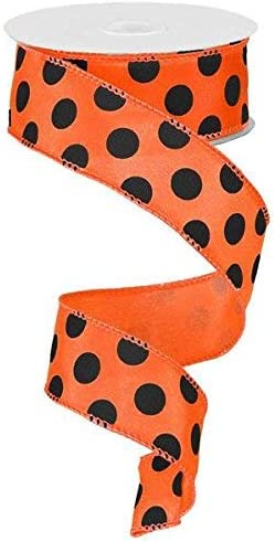 1 Black Ribbon with Colored Spots 1 Yard