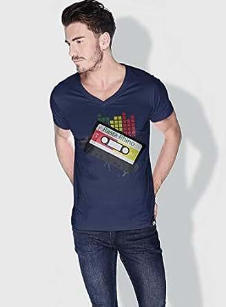 Creo Rasta Rhino Trendy T-Shirts For Men - Xl, Blue