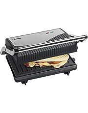 Bestron APG150 Sandwichmaker, panini contactgrill met antiaanbaklaag, 750W, zwart