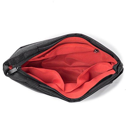 Pofomede Small Crossbody Bags Hobo Messenger Bag Men Shoulder Bags Satchel Tote Handbag Multi-Pocket Travel Purse Carrying Bag Casual Bags Travel Hiking Outdoor Sports Work Lightweight Nylon Black by Pofomede (Image #6)