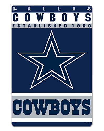 MamaTina Custom Dallas Cowboys American Football Team Design Metal Tin Signs for Home Wall Decor Size 12x8 Inches