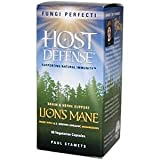 Fungi Perfecti Host Defense Lion's Mane Capsules, 60 Vegetarian Capsules, Health Care Stuffs