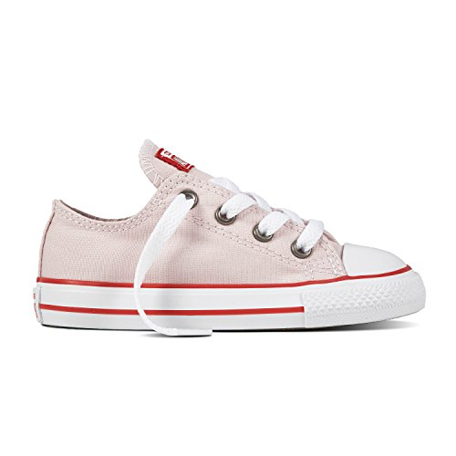 Converse Toddler's Chuck Taylor All Star Casual Shoes, Barely Rose/Enamel Red/White,10C -