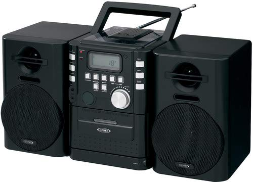 JENSEN CD-725 Portable CD Music System with Cassette and FM Stereo Radio