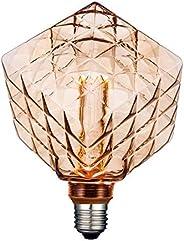 Foco Vintage LED Atenuable / Luz suave cálida, Base E27, Ambar Tecnolite 3DS170LEDFC20VA