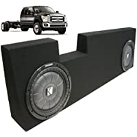 ASC Package Ford 250 350 Super Crew 04-13 Truck Dual 10 Kicker CVT10 Subwoofer Sub Box Enclosure 1600 Watts Peak
