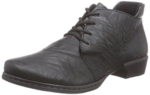 Rieker 52240 - botas de cuero mujer negro - Schwarz (schwarz/schwarz / 00)