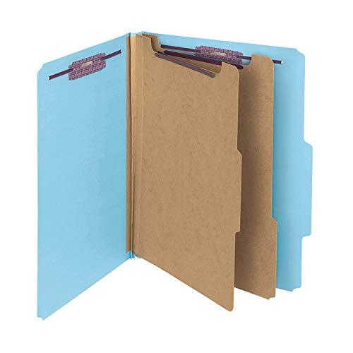 (Smead PressGuard Classification File Folder with SafeSHIELD Fasteners, 2 Dividers, 2