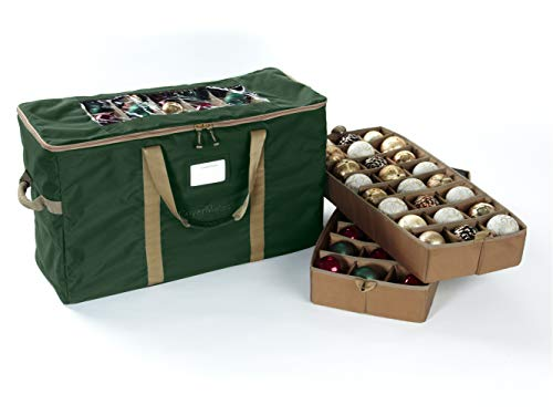 CoverMates – 108PC Holiday Ornament Storage Bag – 3 Year Warranty- Green