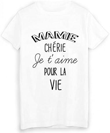 T Shirt Citation Mamie Cherie Je T Aime Ref 1935 Amazon Fr