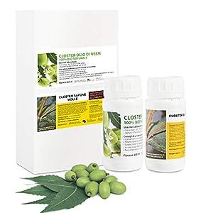 CLOSTER Olio di Neem e Sapone Molle di Potassio - Insetticida Naturale per Piante Contro Cimici Afidi Cocciniglia… 1 spesavip