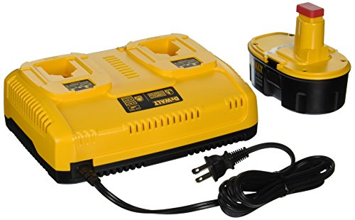 (DEWALT DC9320BP 7.2-to-18-Volt NiCd/NiMH/Li-Ion 1-Hour Dual Port Charger and XRP 18-Volt Battery Combo Pack )