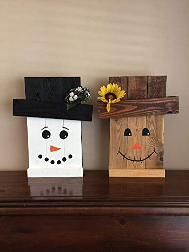 Amazoncom Scarecrowsnowman Reversible Wall Plaque Or Door
