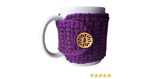 Coffee Sleeve Lavender Heart Coffee Cozy Mug Cozy